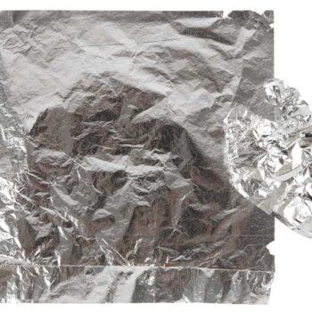 Bladgoud imitatie zilver 25st