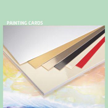 Encaustic verfkaarten A4 assorti 10 stuks