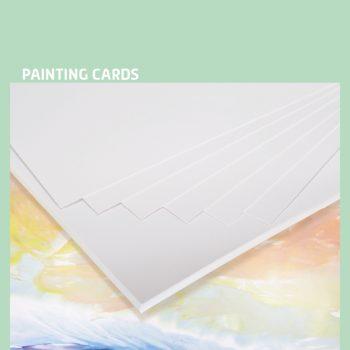 Encaustic verfkaarten A4 wit 100 stuks
