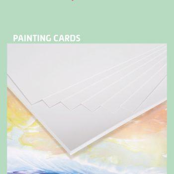 Encaustic verfkaarten A5 wit 100 stuks