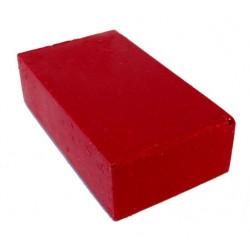 Encaustic wasblokje 01 karmozijnrood