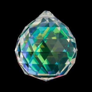 Hanger kristal bol 4cm donkerparelmoer