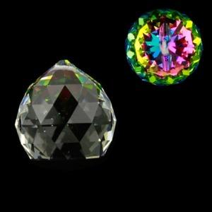 Hanger kristal bol 4cm multicolor