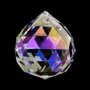 Hanger kristal bol 4cm parelmoer