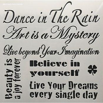 Stencil 30x30 Dance in the Rain