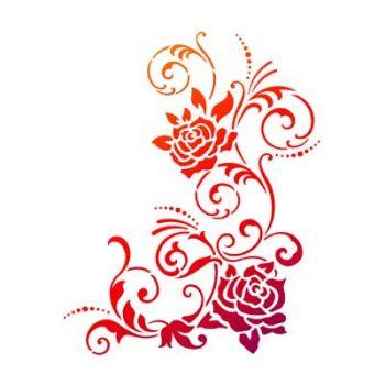 Stencil A4 rozen
